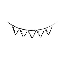 figure cute party flag hanging design vector image