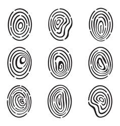 Fingerprint Icon Collection vector image