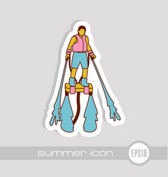 Flyboard icon summer vacation vector