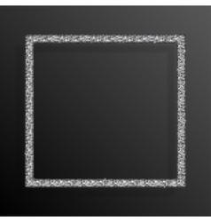 Frame Silver Sequins Square Glitter sparkle vector