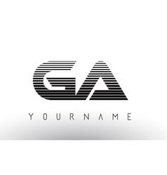 Ga g a black and white horizontal stripes letter vector