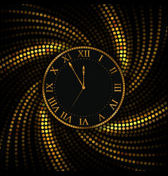 gold watch new year and christmas background vector image