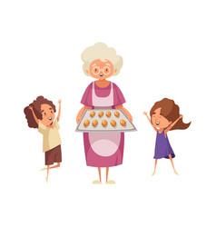 Grandma flat vector