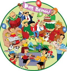 Great holiday cartoon vector