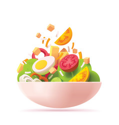 Green salad icon vector