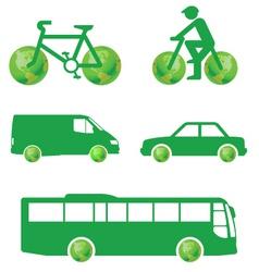 green transport vector image