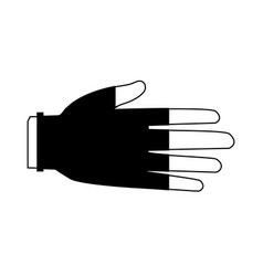 hand protective rubber gloves medical icon vector image
