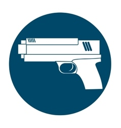 Handgun weapon icon image vector