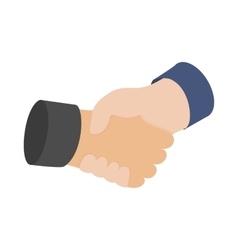Handshake icon isometric 3d style vector image