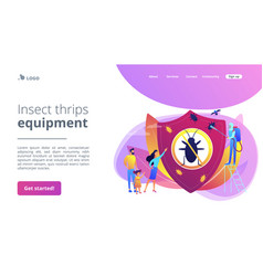 Home pest insects control concept landing page vector