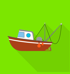 Isolated object fishery and trawler logo vector