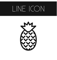 isolated pineapple outline dessert element vector image