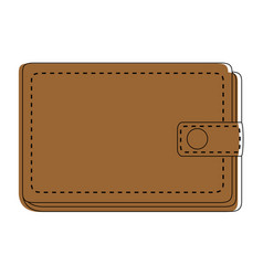 leather wallet symbol vector image