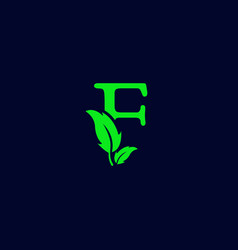 Letter f leaf nature eco green logo template vector