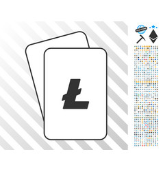 litecoin cards with bonus vector image