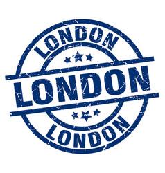 London blue round grunge stamp vector