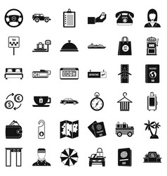 Loot icons set simple style vector