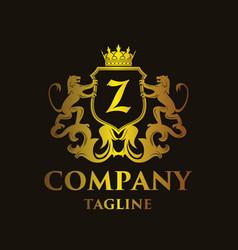 Luxury letter z logo vector