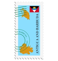 mail to-from Antigua and Barbuda vector image