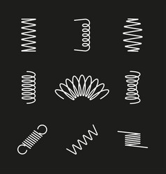 Metal springs icons set vector