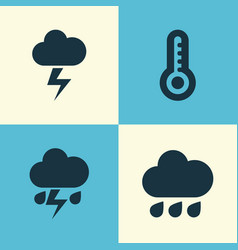 meteorology icons set collection of flash vector image