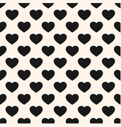 monochrome seamless pattern with heart shapes vector image