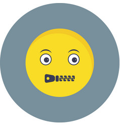 Mute emoji icon vector