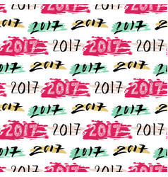 New year background of numbers 2017 seamless vector