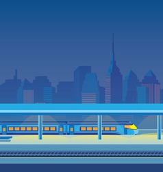 Night train station vector