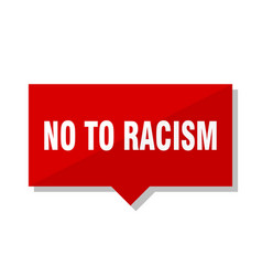 No to racism red tag vector