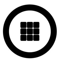 Panel enter icon black color in circle vector