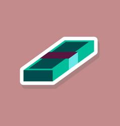 Paper sticker on stylish background bundle vector