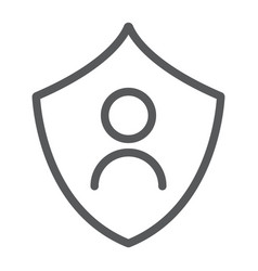 personal protection line icon privacy and vector image