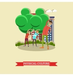 Physical education lesson concept vector