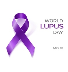 Purple Lupus awareness ribbon isolated on white vector