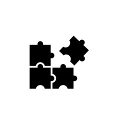 puzzle icon graphic design template vector image