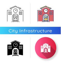 railway station icon vector image