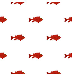red betta fish pattern seamless vector image