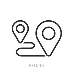 route icon or logo in modern line style vector image