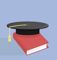 Scientific hat and red book vector