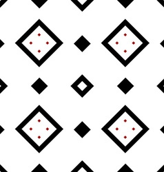 Seamless geometric pattern in black and red vector image
