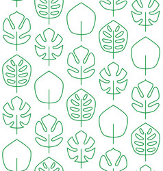 seamless pattern made of linear palm leaves vector image