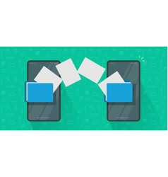Share or transfer files between mobile phones vector