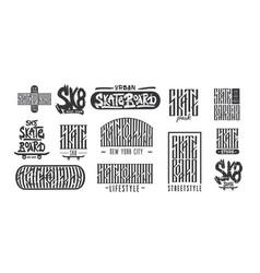 skateboarding typography t-shirt design urban vector image