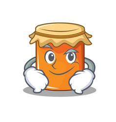 smirking jam character cartoon style vector image