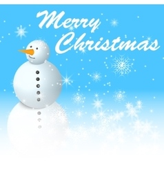 snowman with snowman vector image