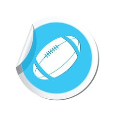 Sticker with american football icon vector