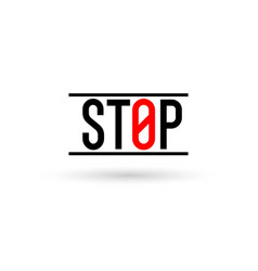 stop sign on a white background prohibiting sign vector image
