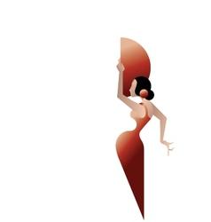 styled silhouette Spain Flamenco dancer vector image