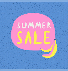 summer sale banner retro cartoon vector image